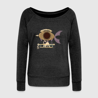 Funny Steampunk - Industrial Machinery Humor - Women's Wideneck Sweatshirt