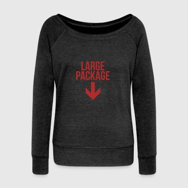 Large Package - Puns, Jokes - Total Basics - Women's Wideneck Sweatshirt