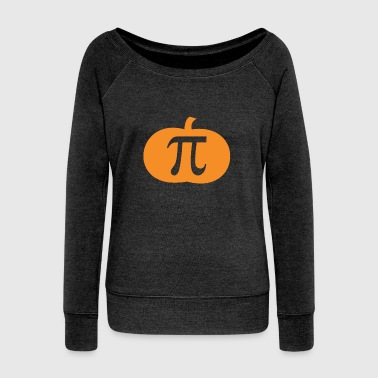 Pumpkin PI Halloween Apparel Funny Pumpkin Pie - Women's Wideneck Sweatshirt