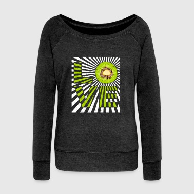 Kiwi I love kiwi fruit New Zealand - gift - Women's Wideneck Sweatshirt