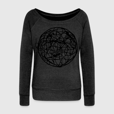 Scribble (scribble) - Women's Wideneck Sweatshirt