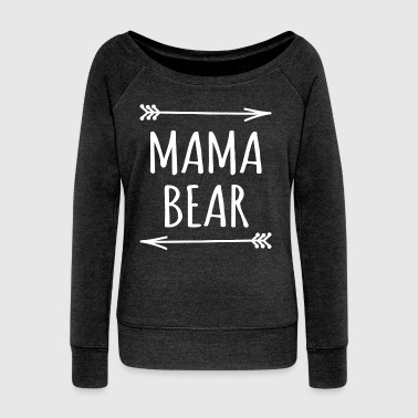 Mama bear arrows t-shirt - Women's Wideneck Sweatshirt