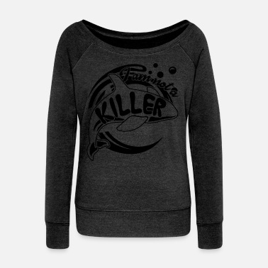 Killer-whale Killer Whale Not A Killer Shirt - Women's Wideneck Sweatshirt