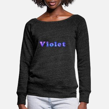 Violet Violet - Women's Wide-Neck Sweatshirt