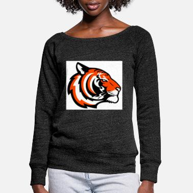 tiger - Women's Wide-Neck Sweatshirt