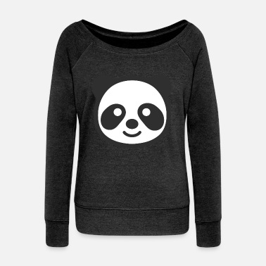 Panda Face - Women's Wideneck Sweatshirt