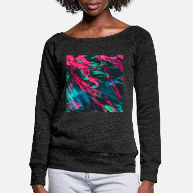 Painting Abstract Paint Mix 10 - Women's Wide-Neck Sweatshirt