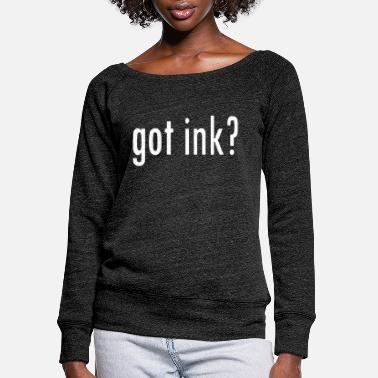 Cuore Got Ink - Women's Wide-Neck Sweatshirt
