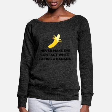 Contact Eye Contact Banana - Women's Wide-Neck Sweatshirt
