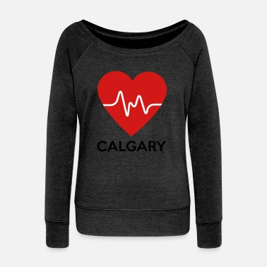 Calgary Heart Calgary - Women's Wide-Neck Sweatshirt