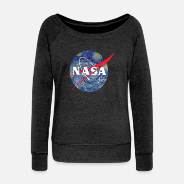 Nasa NASA starry night - Women's Wide-Neck Sweatshirt