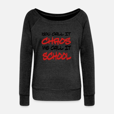 Back To School school - Women's Wideneck Sweatshirt