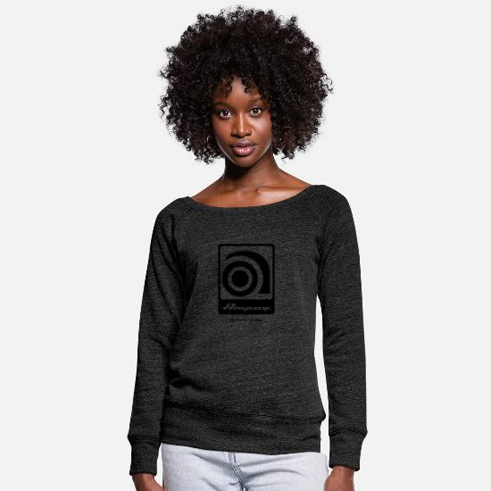 Vintage Hoodies & Sweatshirts - Long Sleeve Ampeg Best Trending - Women's Wide-Neck Sweatshirt heather black