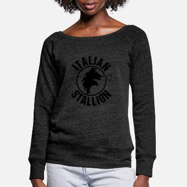 Stallion Italian Stallion - Women's Wide-Neck Sweatshirt