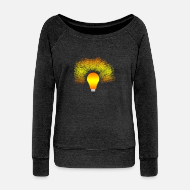 Light Bulb Light Bulb - Women's Wideneck Sweatshirt