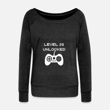 Unlocked Level 21 Unlocked - Women's Wide-Neck Sweatshirt