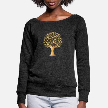 Luxury Luxury Tree - Women's Wide-Neck Sweatshirt