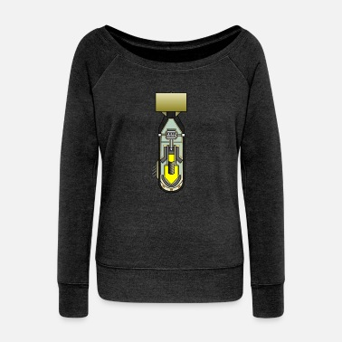 Atomic atomic bomb - Women's Wideneck Sweatshirt