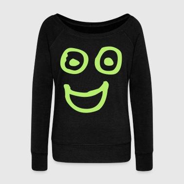 happy_face - Women's Wideneck Sweatshirt