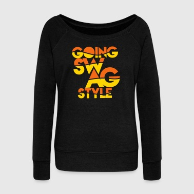 GOING SWAG STYLE two color - Women's Wideneck Sweatshirt