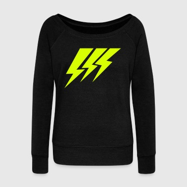 THREE STRIKE LIGHTNING lightning strikes - Women's Wideneck Sweatshirt