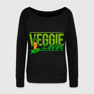 Vegan - Veggie Lover (Carrot) - Women's Wideneck Sweatshirt