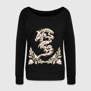 Wonderful decorative chinese dragon - Women's Wideneck Sweatshirt