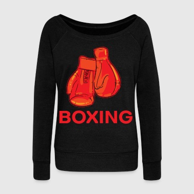 Boxing Gloves boxing gloves - Women's Wideneck Sweatshirt