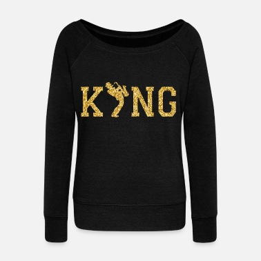 king of jazz - Women's Wide-Neck Sweatshirt