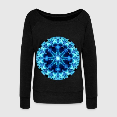 Healing Crystal Light Mandala - Women's Wideneck Sweatshirt
