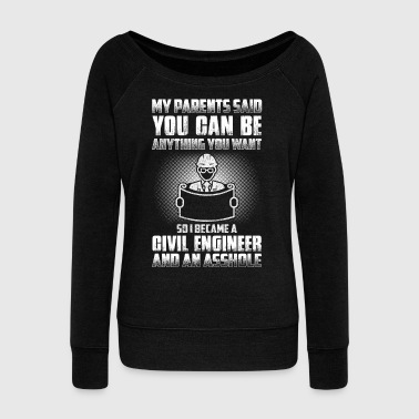 Civil-war Civil Engineer - Women's Wideneck Sweatshirt