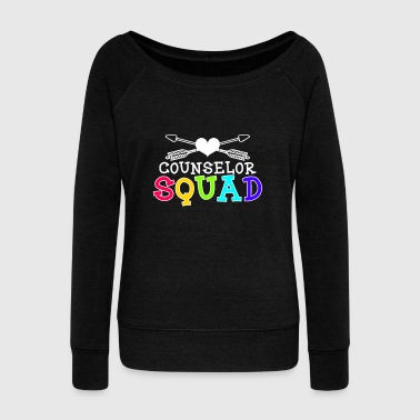 Middle Finger Anti Bullying Counselor Squad Gift - Women's Wideneck Sweatshirt