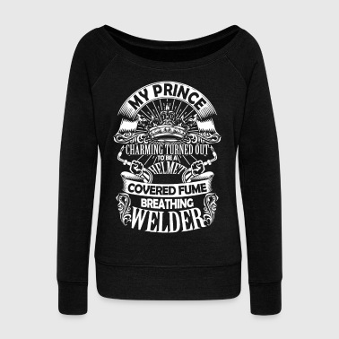 To Be A Helmet Covered Fume Breathing Welder Shirt - Women's Wideneck Sweatshirt