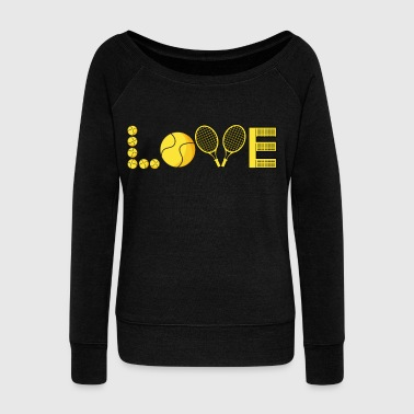 Jock tennis racket ball love game sports gift idea - Women's Wideneck Sweatshirt