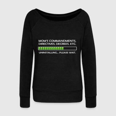 Kaboom Uninstalling Commandments - Women's Wideneck Sweatshirt