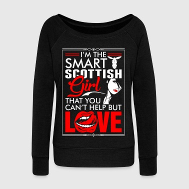 Fold Scottish Girl Love - Women's Wideneck Sweatshirt
