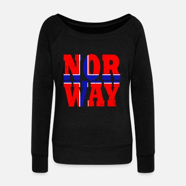 Oslo Norway country Scandinavia flag Oslo north idea - Women's Wideneck Sweatshirt