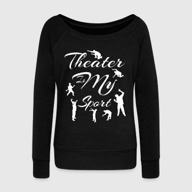 Cityscape NY NYC New York City USA Brooklyn Queens Broadway - Women's Wideneck Sweatshirt