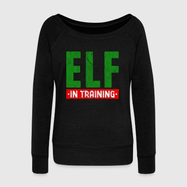 Troll Elf Christmas Santa Claus Gift - Women's Wideneck Sweatshirt