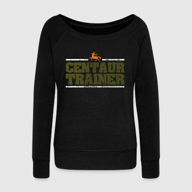 Bow Centaur centaurus trainer Greek Mythology Gift - Women's Wideneck Sweatshirt
