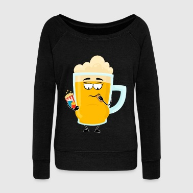 Beer Belly Beer Gut Paunch - Women's Wideneck Sweatshirt