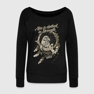 Proud Native American - Women's Wideneck Sweatshirt