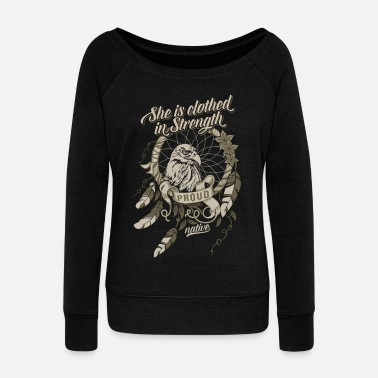 Proud Proud Native American - Women's Wideneck Sweatshirt