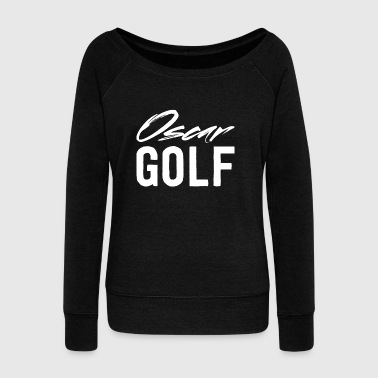 White Golf Oscar Golf White - Women's Wideneck Sweatshirt