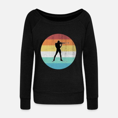 Christmas Present Biathlon - Women's Wideneck Sweatshirt