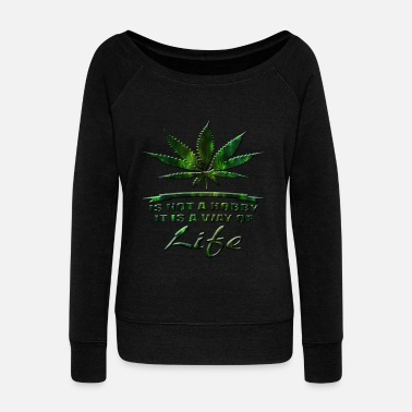 Netherlands Cannabis - Women's Wideneck Sweatshirt