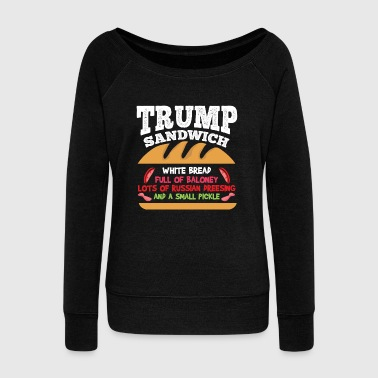 Anti Trump | Impeach the President | Vote For Dems Dark - Women's Wideneck Sweatshirt