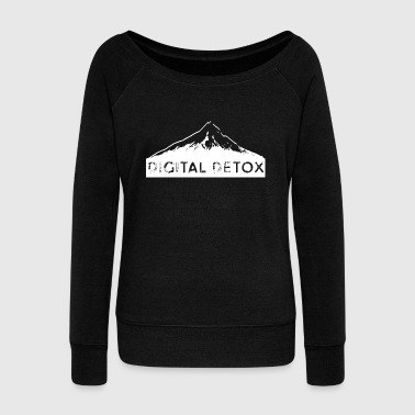 Digital Detox weiss - Women's Wideneck Sweatshirt