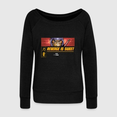 Samurai Revenge Is Sweet - Women's Wideneck Sweatshirt