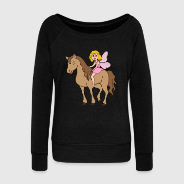 Cool Funny Cool Cute Horse Riding Rider - Women's Wideneck Sweatshirt